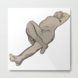 Male Nude - An Artwork Metal Print