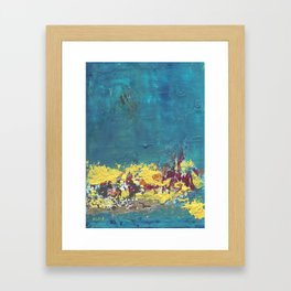 Mystic Blue Framed Art Print