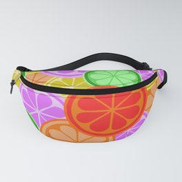 Citrus Explosion - A Pattern of Many Fruits from the Citrus Family Fanny Pack