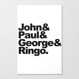 John, Paul, George & Ringo Canvas Print