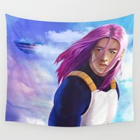 dragonball Wall Tapestries featuring Hope of the Future by Smojojo