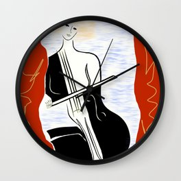 Woman with Cello ver. 02 Wall Clock