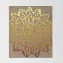 Aztec Sun Tribal Design 3 Throw Blanket
