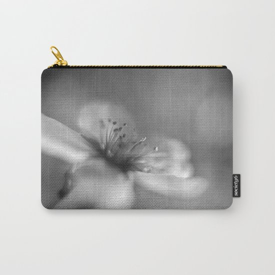 White flowers. Mono Carry-All Pouch