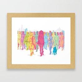 Quarto Stato Framed Art Print