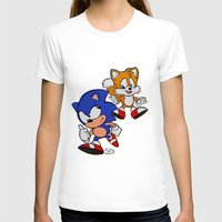sonic T-shirts featuring Sonic & Tails by Jinny Hinkle