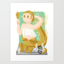 """Scissors"" Mermaid Art Print"