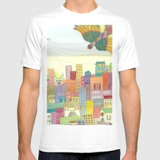 cité White Mens Fitted Tee MEDIUM