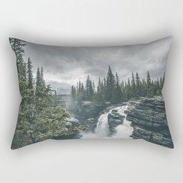 Landscape Athabasca Falls Christmas Rectangular Pillow