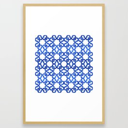 Geometric Pattern - Oriental Design rmx Framed Art Print