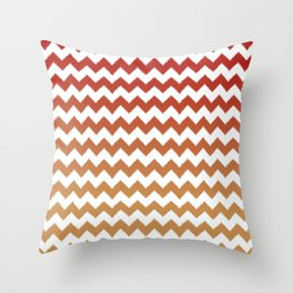 red cheveron ikat ombre Throw Pillow