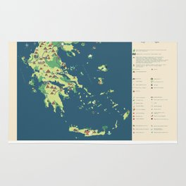 MAP OF GREECE Rug