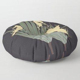 Goldfinch and Botanicals Illustration Art Series Floor Pillow