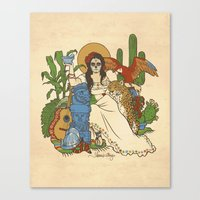 mexico Canvas Prints featuring Mexico by Anne Kelley