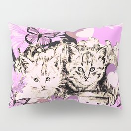 Frieda's Baby Cats in Pink Pillow Sham