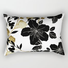 Black Azelea Rectangular Pillow