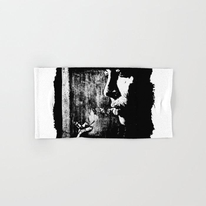 SMOKE - black version Hand & Bath Towel
