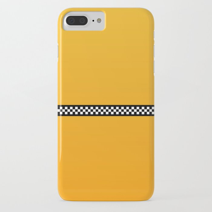 NY Taxi Cab Yellow with Black and White Check Band iPhone Case