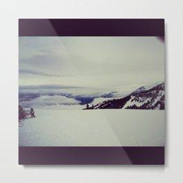 mountain snow winter wonderland Metal Print