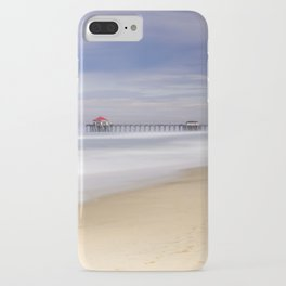 Huntington Beach Pier Monsoon Morning    8-13-20  iPhone Case