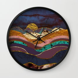 Color Fields Wall Clock
