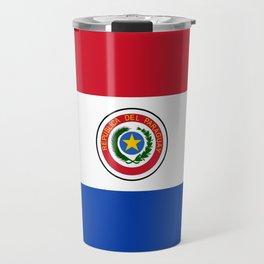 flag of paraguay -paraguyan,asuncion,spanish, south america, latin america,pan flute,coffee,forest Travel Mug