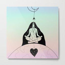Earth Star Chakra Healing Metal Print