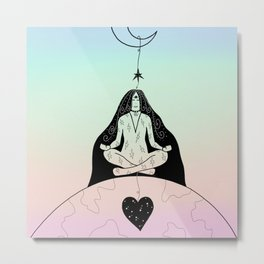 Earth Star Chakra Healing Metal Print