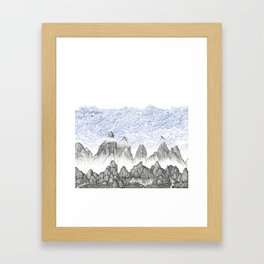 Cobalt Coudy Mountains 2: Lake Framed Art Print