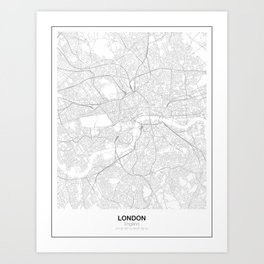 London, England Minimalist Map Art Print