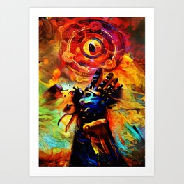 Colorful Stone Art Print