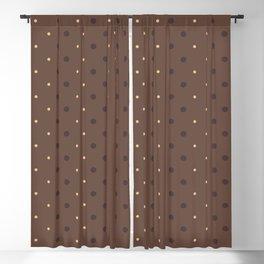 Stylish Dots Pattern Background Blackout Curtain