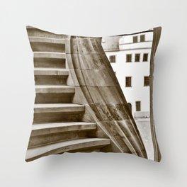 Sand stone spiral staircase 12 Throw Pillow