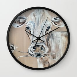 """Marge""  the Cow Wall Clock"