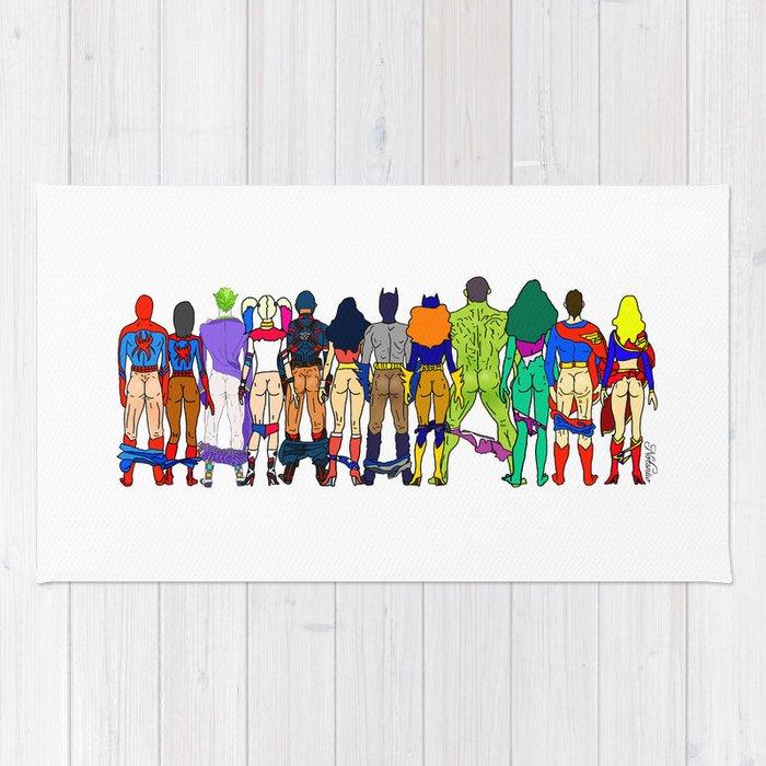 Superhero Butts - Power Couple Rug