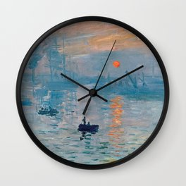 Claude Monet Impression Sunrise Wall Clock