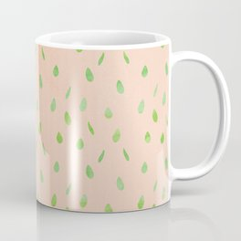 Modern hand painted abstract green mauve pink waterdrops pattern Coffee Mug