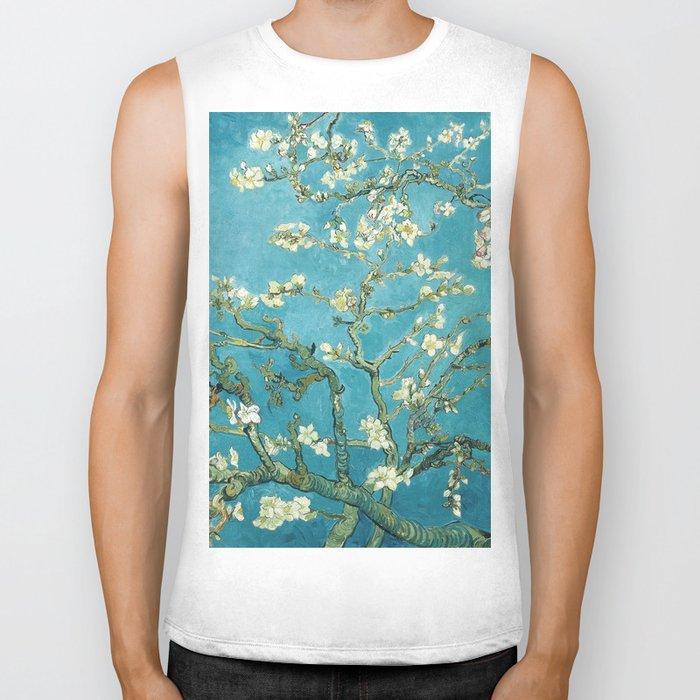 Almond Blossoms by Vincent van Gogh Biker Tank