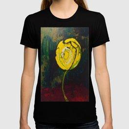 Golden Yellow Rose Acrylic T-shirt