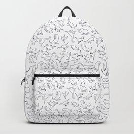 Dinosaurs Outline Pattern Backpack