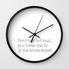 Don't talk - Sherlock - TV Show Collection Wall Clock
