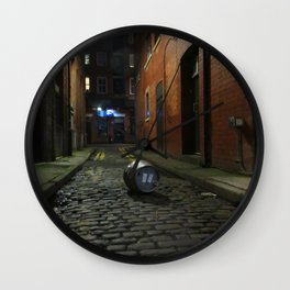 The Party Is Over street scene Wall Clock