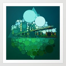 BK Bridge Art Print