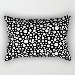 Hand drawn polka dot pattern - White Rectangular Pillow
