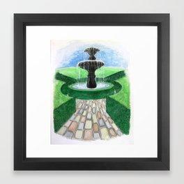 in my garden Framed Art Print