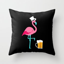 Flamingo Party Throw Pillow