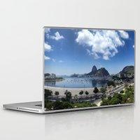 rio de janeiro Laptop & iPad Skins featuring Lovely Rio de Janeiro by Michel Lent
