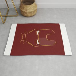 iron man face Rug