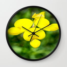 Soft Birdsfoot Trefoil Wall Clock