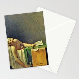 The Death of Marat - Digital Remastered Edition Stationery Cards